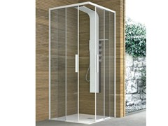 - Corner crystal shower with two sliding doors TOP | Shower cabin - GRUPPO GEROMIN
