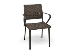 - Steel garden chair with armrests HAMPTONS GRAPHICS   Chair with armrests - Roberti Rattan