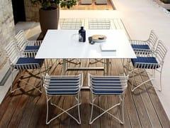 - Square metal garden table HAMPTONS GRAPHICS | Square garden table - Roberti Rattan