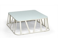 - Low Square aluminium garden side table HAMPTONS GRAPHICS | Square coffee table - Roberti Rattan