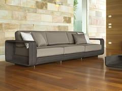 - 3 seater sectional modular aluminium garden sofa HAMPTONS | 3 seater garden sofa - Roberti Rattan