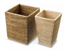 - Rattan bathroom waste bin BASKET QK - DECOR WALTHER