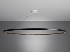 - LED direct-indirect light steel pendant lamp OMEGA 200 - Le Deun Luminaires