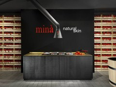 - Solid wood kitchen NATURAL SKIN | Brass kitchen - Minacciolo