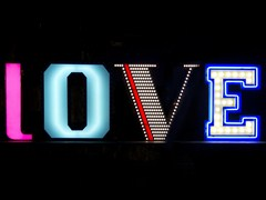 Fluorescent Light letter LOVE - Delightfull