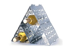 Portabottiglie in acciaio zincatoWineStack - LONC