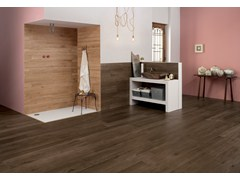 - Ecological frost proof wall/floor tiles with wood effect EVOKE MOKA - CERAMICHE KEOPE
