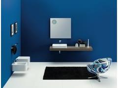 - Countertop ceramic washbasin NILE | Rectangular washbasin - CERAMICA FLAMINIA