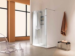 - Shower cabin with tray OPEN SWAY - Samo
