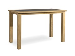 - Rectangular teak high table MILANO | Teak garden table - MANUTTI