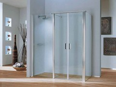 - 2 places corner shower cabin with hinged door POLARIS DELUXE | 2 places shower cabin - Samo