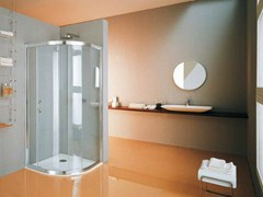 - Corner semicircular shower cabin with tray NEW CEE | Semicircular shower cabin - Samo