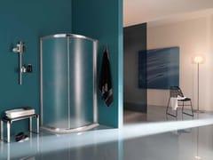 - Corner semicircular shower cabin with tray AMERICA | Corner shower cabin - Samo