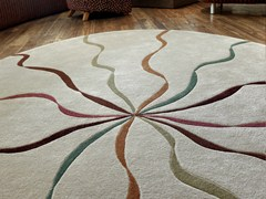 - Handmade rug FALLING RIBBONS | Round rug - Deirdre Dyson