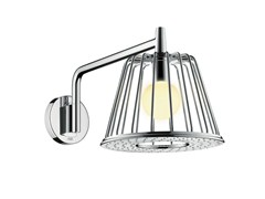 - Rain shower with built-in lights AXOR LAMP SHOWER NENDO | Chrome-plated overhead shower - HANSGROHE