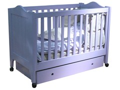 - Wooden cot with casters TILLEUL | Cot with casters - Mathy by Bols