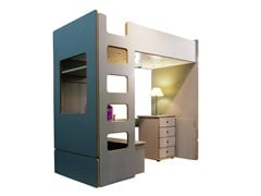 - Loft MDF bed DAVID | Loft bed - Mathy by Bols