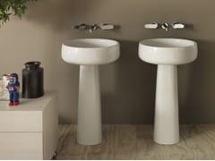 - Freestanding round white-paste washbasin BONOLA 50 | Freestanding washbasin - CERAMICA FLAMINIA