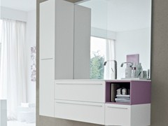 - Vanity unit with doors with drawers COMP MFE10 - IdeaGroup