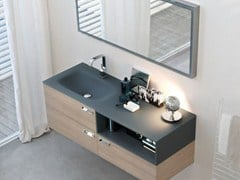 - Crystal vanity unit COMP MFE12 | Wall-mounted vanity unit - IdeaGroup