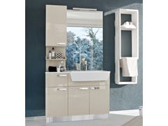 - Lacquered vanity unit with doors COMP MFE19 - IdeaGroup
