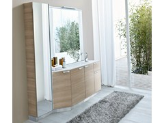 - Oak vanity unit with mirror COMP MFE21 - IdeaGroup