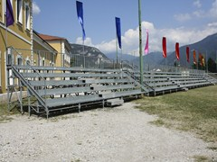 - Modular system for steel platform and stand 5 ROW COMPATTA TRIBUNE - SELVOLINA