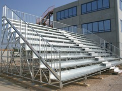 - Modular system for steel platform and stand 10 ROW COMPATTA TRIBUNE - SELVOLINA
