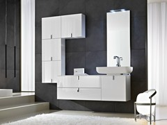 - Vanity unit with mirror COMP C07 - IdeaGroup