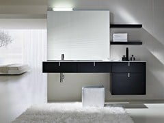 - Lacquered vanity unit with drawers COMP C01 - IdeaGroup