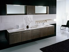 - Double vanity unit with mirror COMP TE6 - IdeaGroup