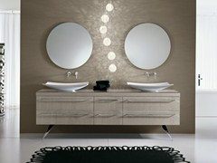 - Double vanity unit with mirror COMP TE8 - IdeaGroup