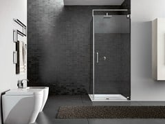 - Corner steel shower cabin HAND07 - IdeaGroup