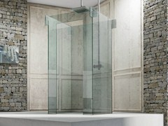 - Free standing glass shower cabin ICONA ISLAND - MEGIUS