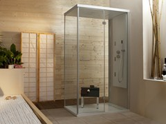 - Multifunction rectangular shower cabin with hinged door WELLDREAM | Shower cabin - MEGIUS