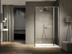 - Corner rectangular glass shower cabin SMART 05 - IdeaGroup