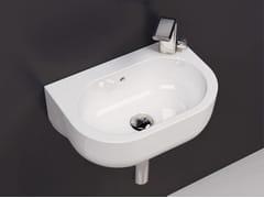 - Wall-mounted ceramic handrinse basin PASS | Wall-mounted handrinse basin - CERAMICA FLAMINIA