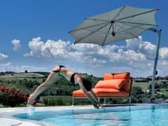 - Offset Garden umbrella ISCHIA SILVER - FIM