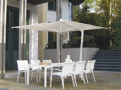 - Adjustable aluminium Garden umbrella ISCHIA WHITE - FIM