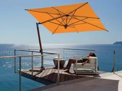 - Offset teak Garden umbrella ISCHIA TEAK SILVER - FIM
