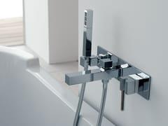 - Wall-mounted bathtub mixer with hand shower SOQQUADRO | Bathtub mixer - ZAZZERI