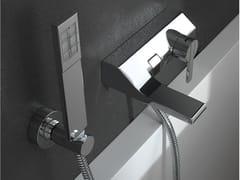 - Wall-mounted single handle bathtub mixer with hand shower REM | Bathtub mixer with hand shower - ZAZZERI