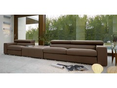 - Sectional leather sofa with headrest HUGO - ITALY DREAM DESIGN - Kallisté
