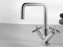 - 1 hole washbasin tap with individual rosettes DA-DA | Washbasin tap - ZAZZERI