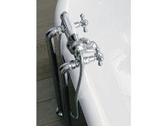 - Floor standing bathtub tap with hand shower with individual rosettes 800 | Floor standing bathtub tap - ZAZZERI