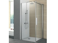 - Corner shower cabin with one pivot door and one fixed side PIVOT | Corner shower cabin - GRUPPO GEROMIN