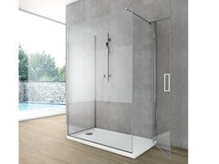 - Crystal shower wall panel with lateral entry SIDE 6 - GRUPPO GEROMIN