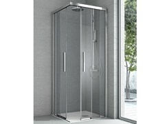 - Corner crystal shower cabin with 2 sliding doors ASTER - HAFRO