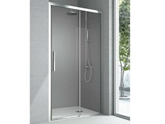 - Niche crystal shower cabin with sliding door ASTER | Shower cabin - HAFRO