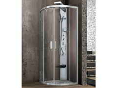 - Corner round shower cabin with 2 sliding doors ASTER-T - GRUPPO GEROMIN